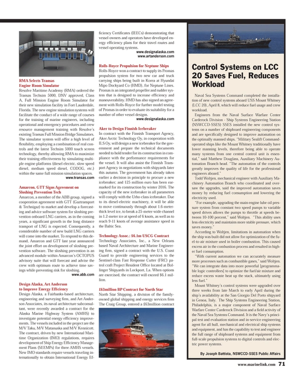 Maritime Reporter Magazine, page 71,  May 2013