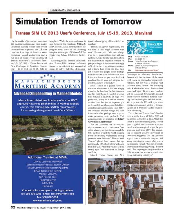 Maritime Reporter Magazine, page 32,  Jun 2013 Sweden