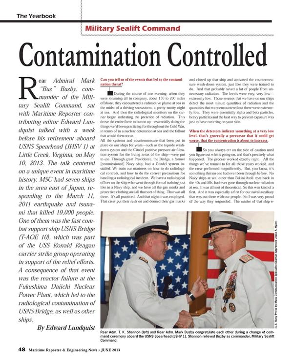 Maritime Reporter Magazine, page 48,  Jun 2013 Edward LundquistRear