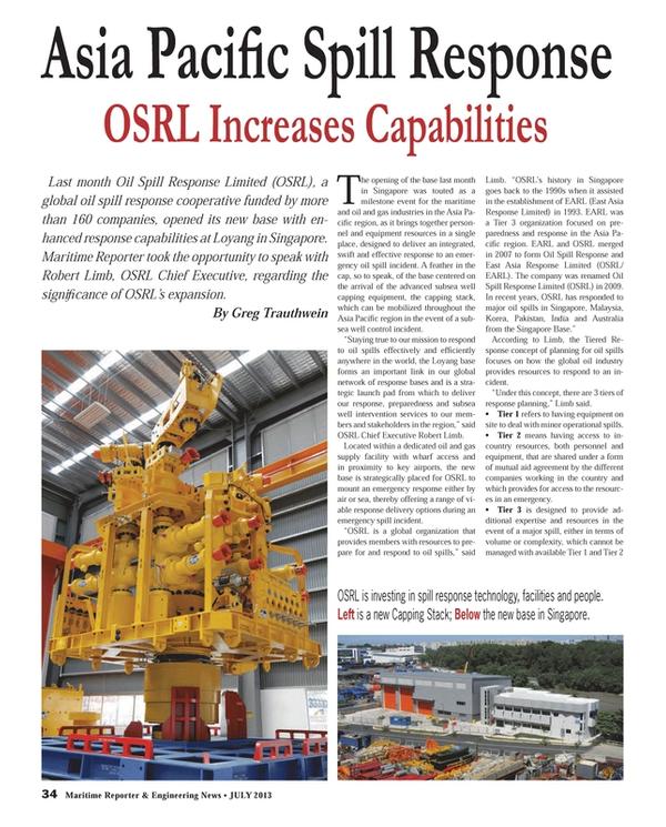 Maritime Reporter Magazine, page 34,  Jul 2013
