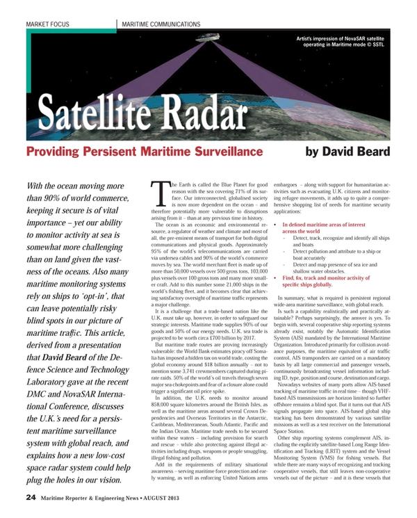 Maritime Reporter Magazine, page 24,  Aug 2013