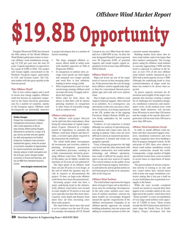 Maritime Reporter Magazine, page 30,  Aug 2013 Aberdeen Business School