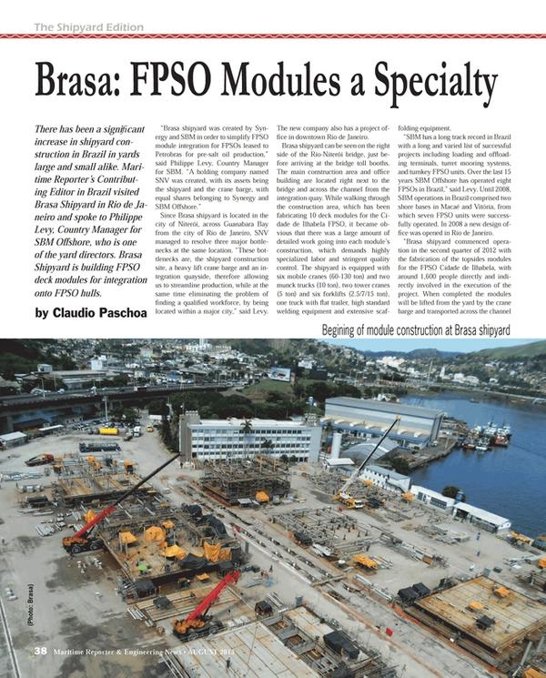 Maritime Reporter Magazine, page 38,  Aug 2013