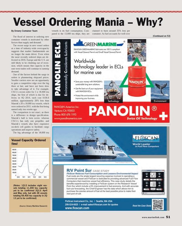 Maritime Reporter Magazine, page 51,  Aug 2013