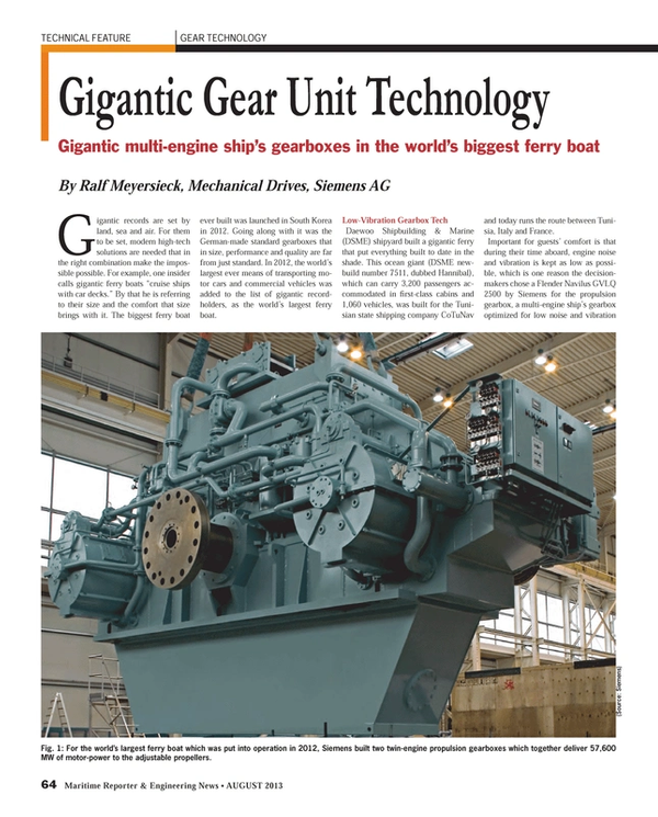 Maritime Reporter Magazine, page 64,  Aug 2013