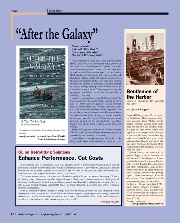Maritime Reporter Magazine, page 68,  Aug 2013