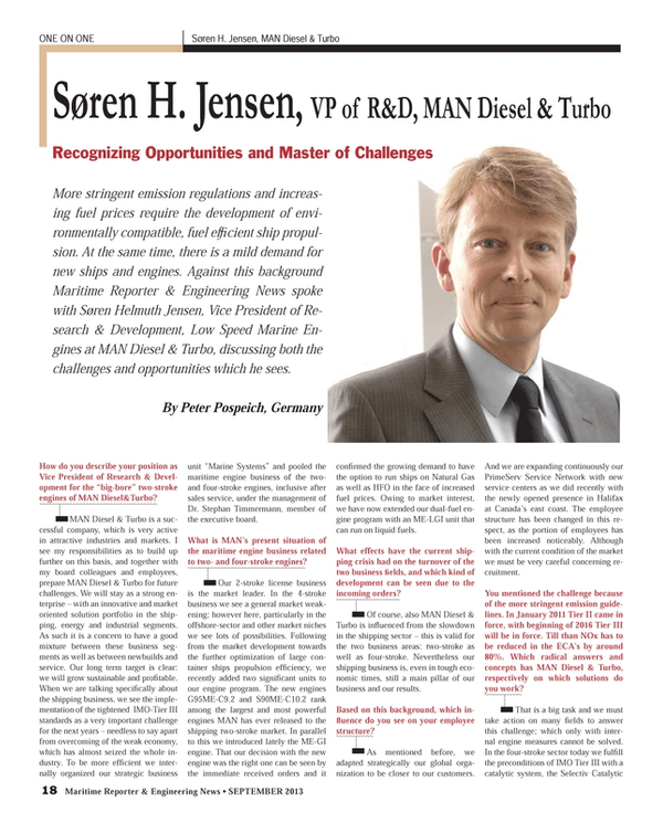Maritime Reporter Magazine, page 18,  Sep 2013