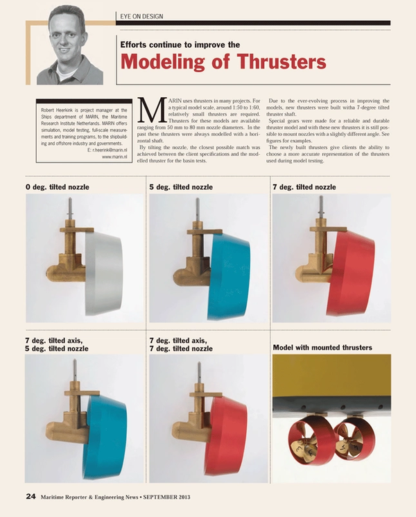 Maritime Reporter Magazine, page 24,  Sep 2013