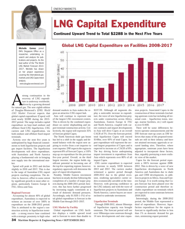 Maritime Reporter Magazine, page 34,  Sep 2013 carrier shipbuilding