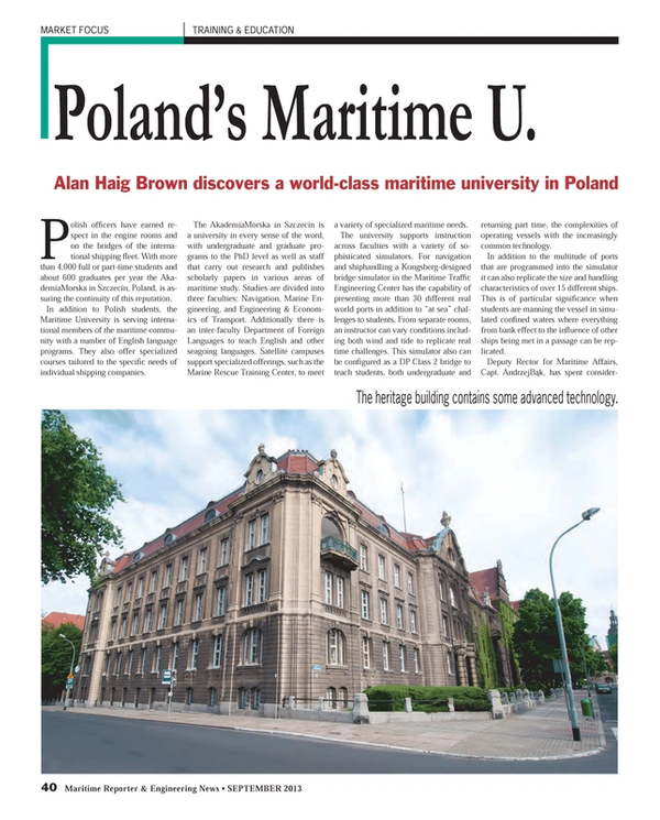 Maritime Reporter Magazine, page 40,  Sep 2013