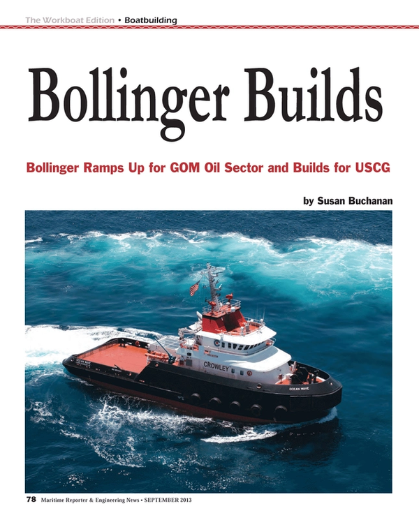 Maritime Reporter Magazine, page 78,  Sep 2013