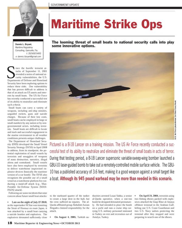 Maritime Reporter Magazine, page 18,  Oct 2013