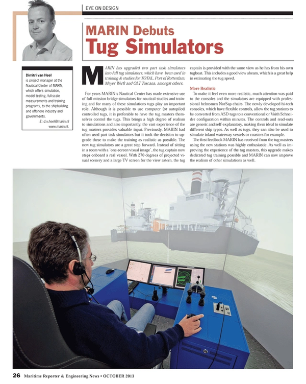 Maritime Reporter Magazine, page 26,  Oct 2013