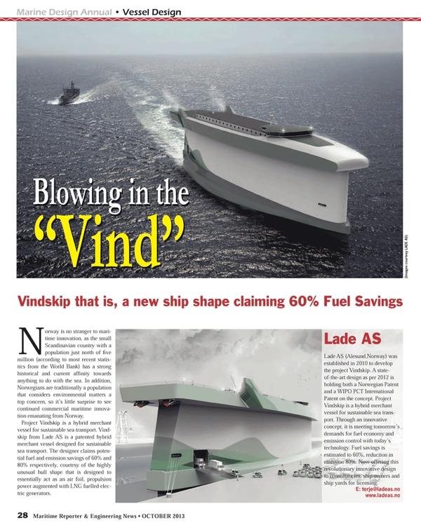 Maritime Reporter Magazine, page 28,  Oct 2013
