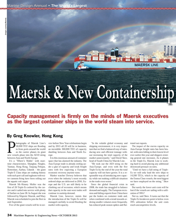 Maritime Reporter Magazine, page 34,  Oct 2013