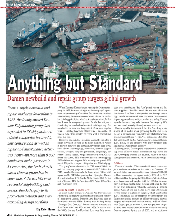 Maritime Reporter Magazine, page 48,  Oct 2013