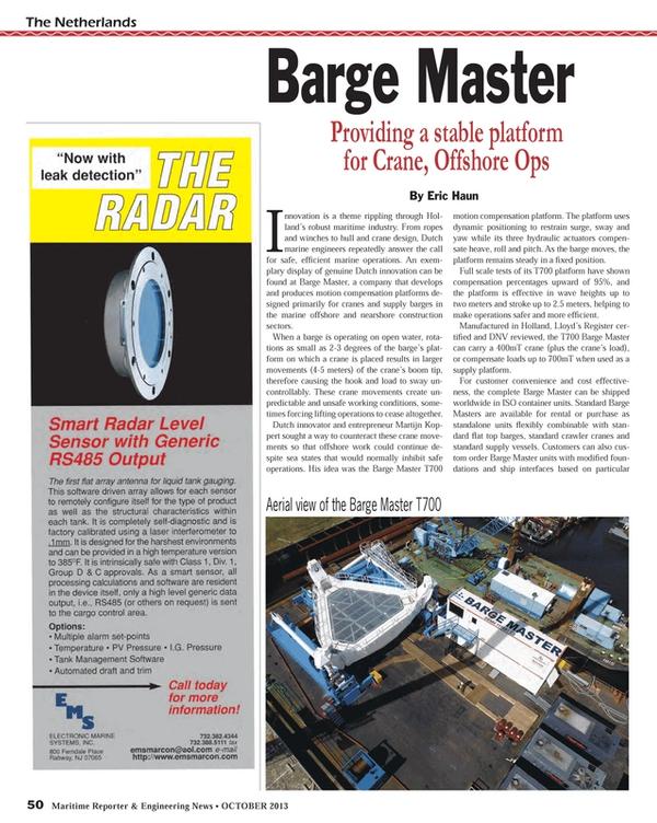 Maritime Reporter Magazine, page 50,  Oct 2013
