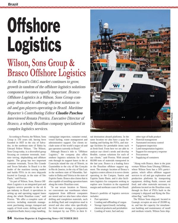 Maritime Reporter Magazine, page 54,  Oct 2013
