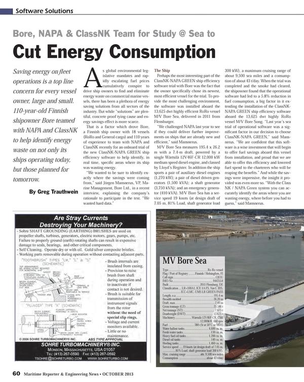 Maritime Reporter Magazine, page 60,  Oct 2013
