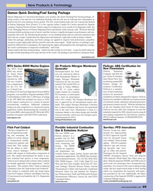 Maritime Reporter Magazine, page 69,  Oct 2013