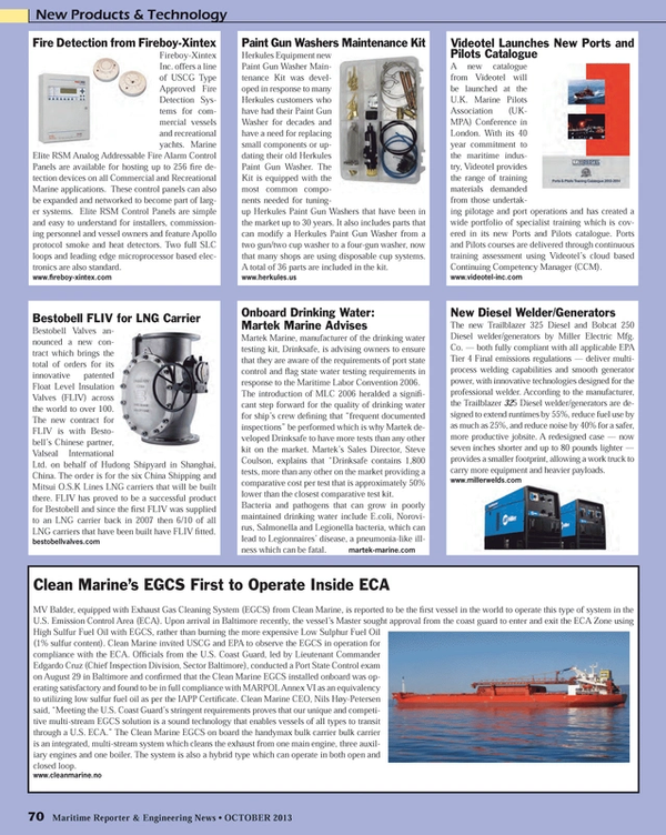 Maritime Reporter Magazine, page 70,  Oct 2013