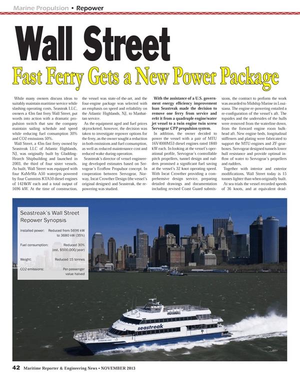 Maritime Reporter Magazine, page 42,  Nov 2013