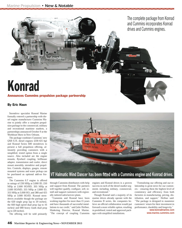 Maritime Reporter Magazine, page 46,  Nov 2013 manufacturing