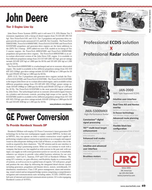 Maritime Reporter Magazine, page 49,  Nov 2013 6090SFM856135SFM85Hornbeck Offshore