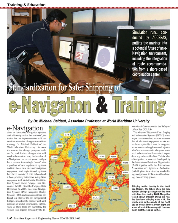 Maritime Reporter Magazine, page 62,  Nov 2013 World Maritime University