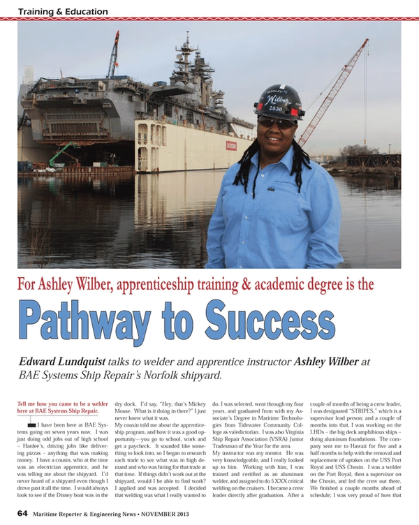 Maritime Reporter Magazine, page 64,  Nov 2013 Port Royal
