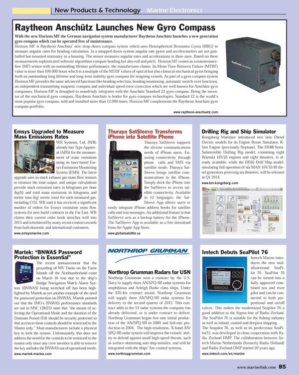 Maritime Reporter Magazine, page 85,  Nov 2013