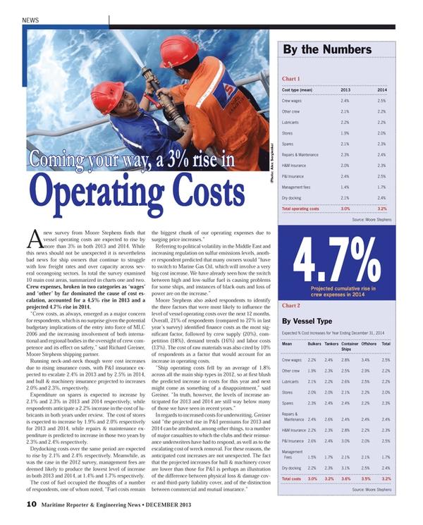Maritime Reporter Magazine, page 10,  Dec 2013