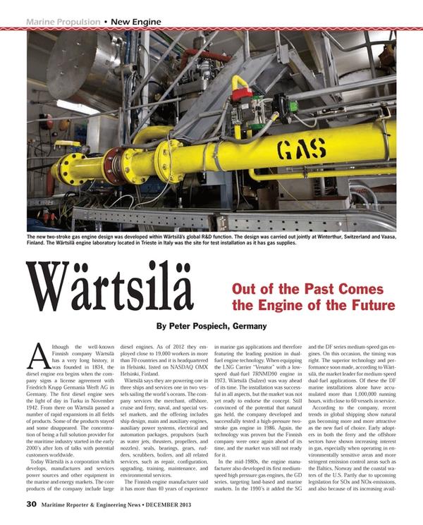 Maritime Reporter Magazine, page 30,  Dec 2013