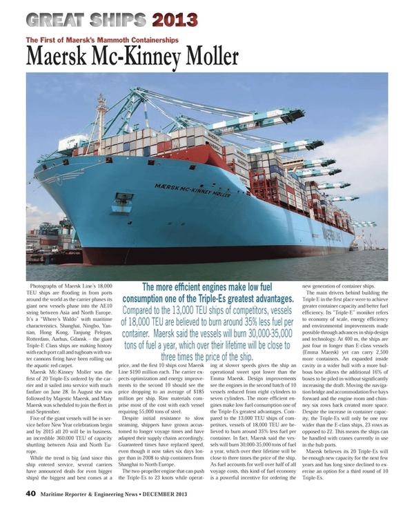 Maritime Reporter Magazine, page 40,  Dec 2013