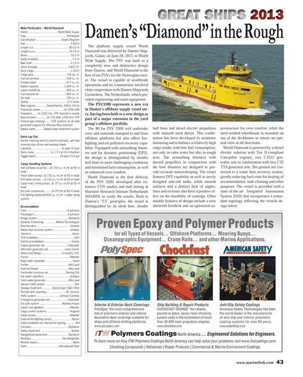 Maritime Reporter Magazine, page 43,  Dec 2013 Drill