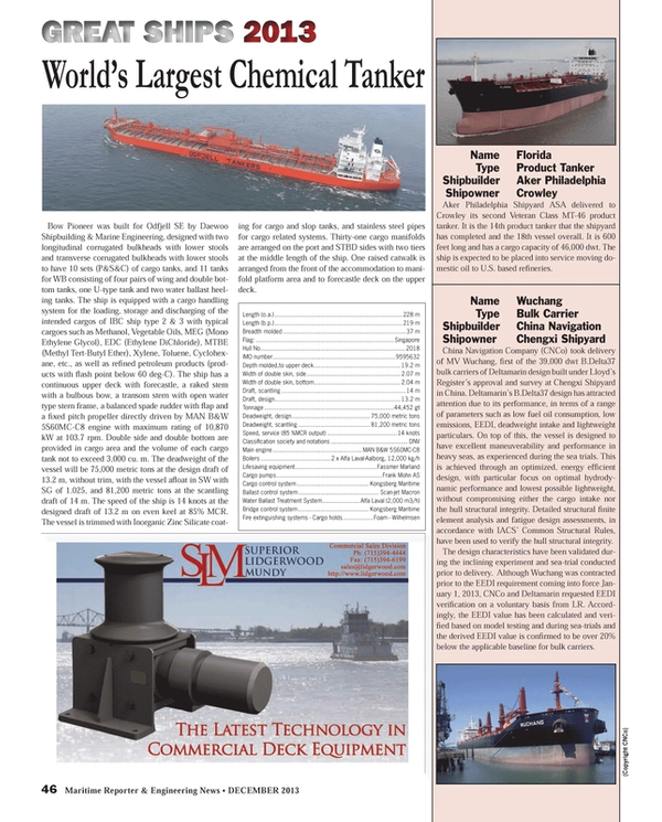 Maritime Reporter Magazine, page 46,  Dec 2013 energy ef