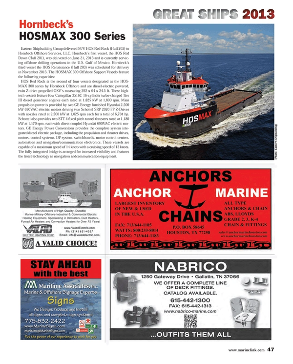 Maritime Reporter Magazine, page 47,  Dec 2013 Gulf of Mexico