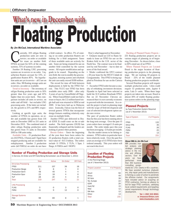 Maritime Reporter Magazine, page 50,  Dec 2013