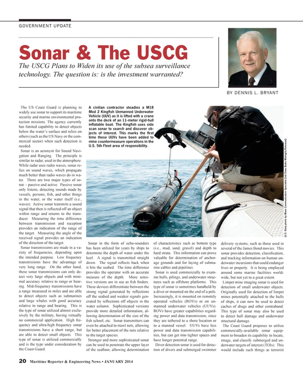 Maritime Reporter Magazine, page 20,  Jan 2014
