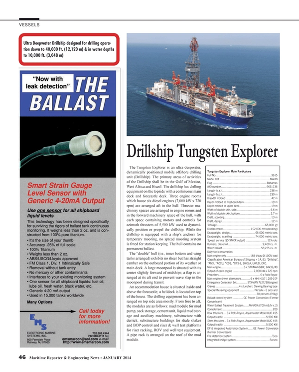 Maritime Reporter Magazine, page 46,  Jan 2014 Conversion (Former Converteam) Fire detection system