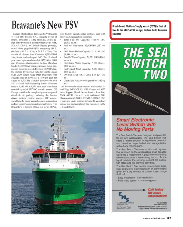 Maritime Reporter Magazine, page 47,  Jan 2014 control systems