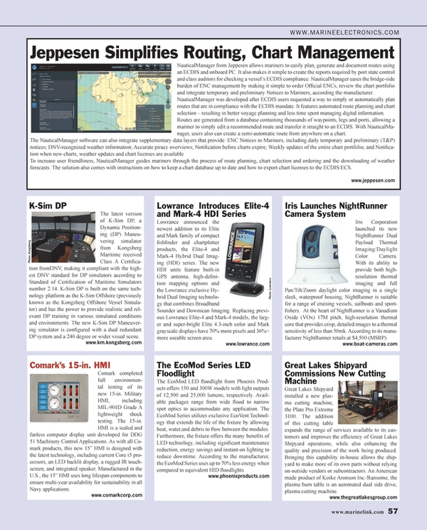 Maritime Reporter Magazine, page 57,  Jan 2014 LED technology