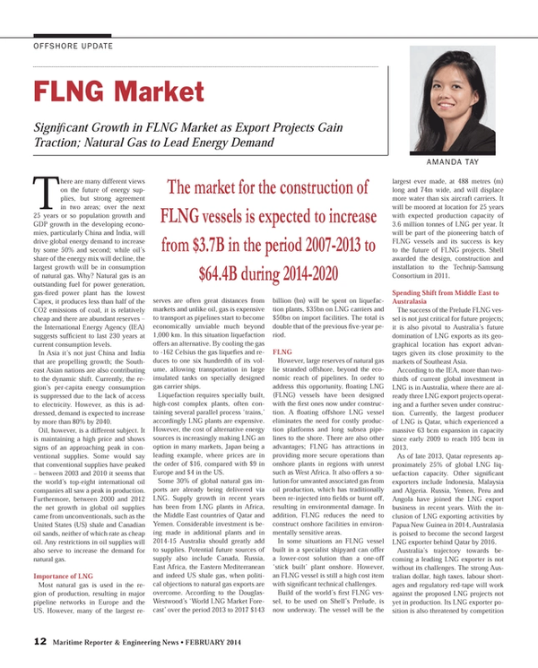 Maritime Reporter Magazine, page 12,  Feb 2014