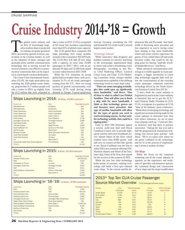 Maritime Reporter Magazine, page 26,  Feb 2014