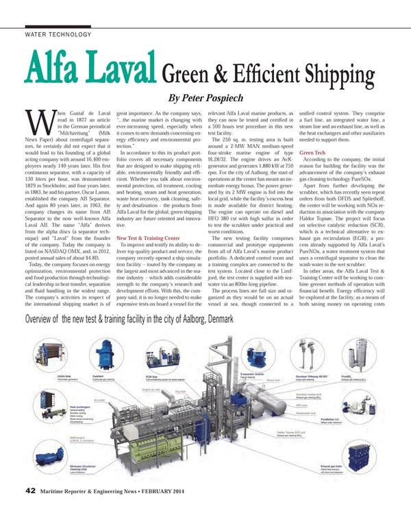 Maritime Reporter Magazine, page 42,  Feb 2014
