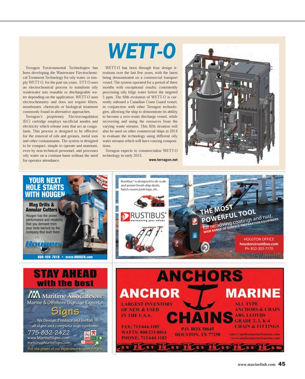 Maritime Reporter Magazine, page 45,  Feb 2014