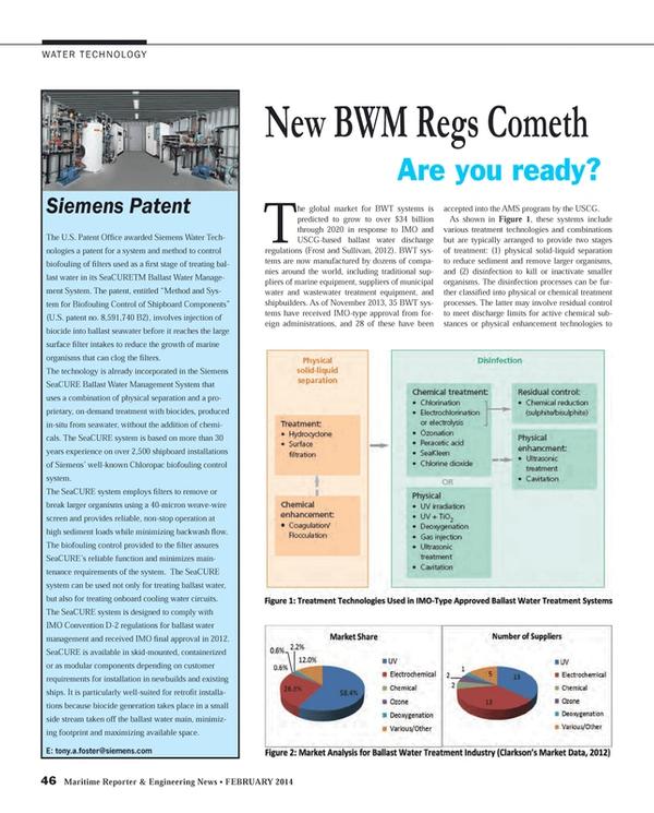 Maritime Reporter Magazine, page 46,  Feb 2014