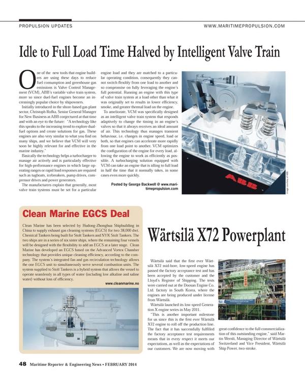 Maritime Reporter Magazine, page 48,  Feb 2014