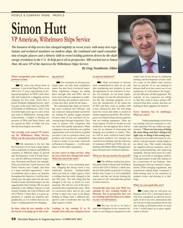 Maritime Reporter Magazine, page 50,  Feb 2014