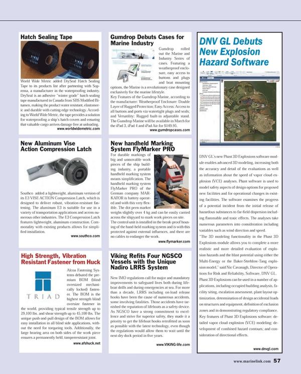 Maritime Reporter Magazine, page 57,  Feb 2014